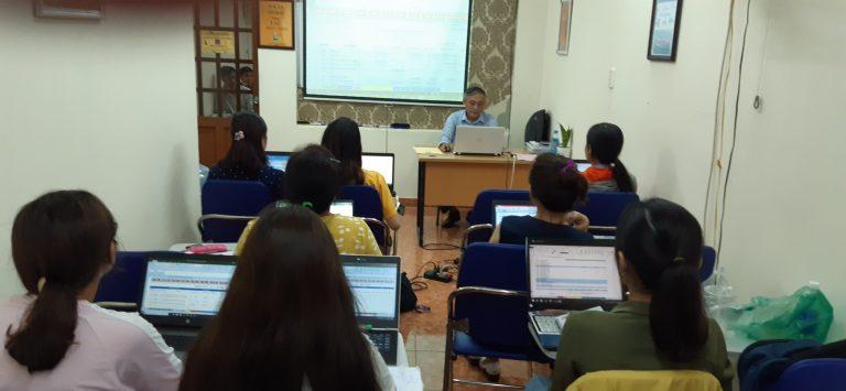 Hình ảnh đào tạo kế toán tại trung tâm VinaTrain